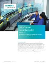 MindSphere security model
