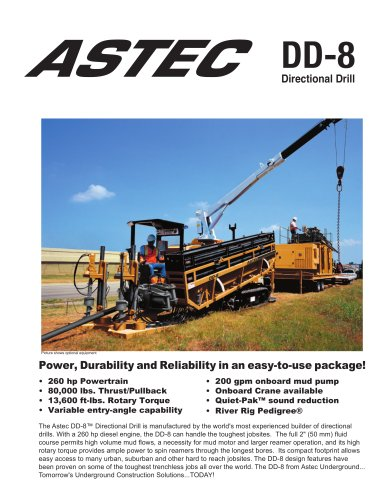 Horizontal Directional Drills Astec DD-8