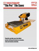 Tile Saws Brochure