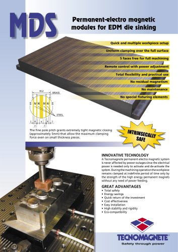 MDS - Permanent-electro magnetic modules for EDM die sinking