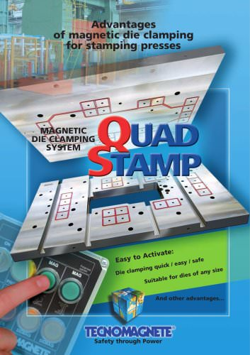 Quad-Stamp Magnetic die clamping for stamping presses