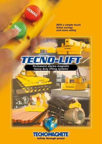 TECNOLIFT Permanent-electro magnetic heavy duty lifting systems