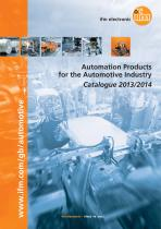 ifm automation products for the automotive industry - catalogue 2013 - 2014