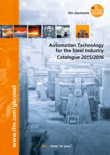 ifm Automation Technology for the Steel Industry Catalogue 2015/2016