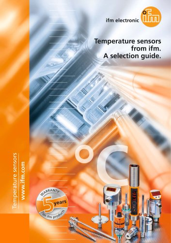 Temperature sensors from ifm. A selection guide.