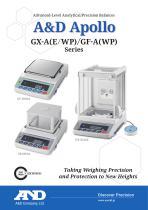 A&D Apollo GX-A(E/WP) & GF-A(WP) series of advanced-level analytical/precision balances