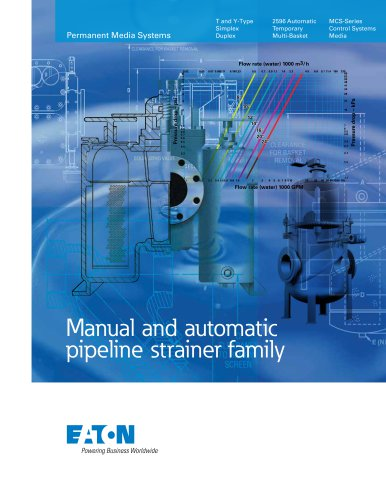 Eaton Manual and automatic pipeline strainer Brochure