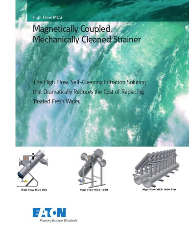 Magnetically Coupled, Mechanically Cleaned Strainer