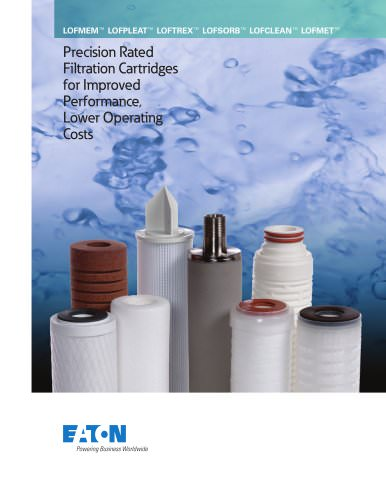 Precision Rated Filtration Cartridges for Improved Performance, Lower Operating Costs