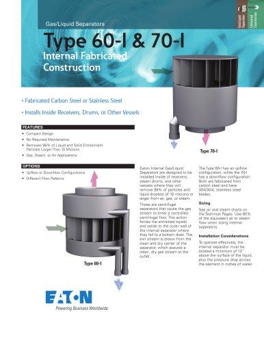 Types 60-I & 70-I Internal Separators