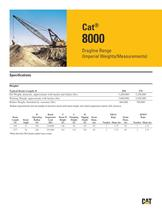 Cat® 8000 Dragline Range (Imperial Weights/Measurements)
