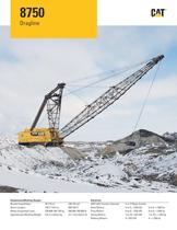 Cat® 8750 DRAGLINE RANGE