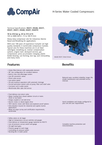 H-Series Water Cooled Compressors
