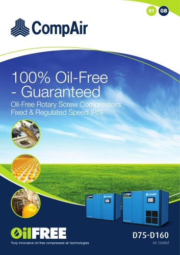 Oil-free Rotary Screw Compressors D-Series, air cooled