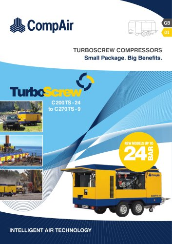 TurboScrew portable compressors