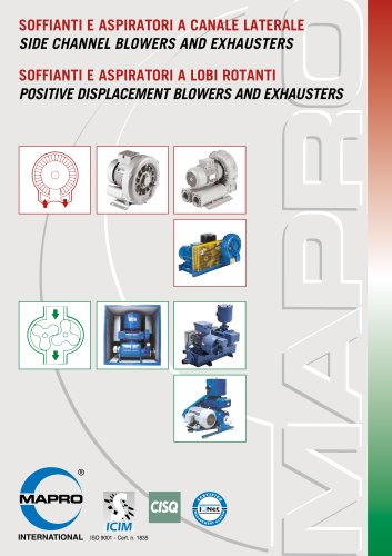 Side Channel Blowers and Exhausters - Positive Displacement Blowers and Exhausters