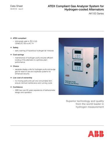 ATEX Compliant Gas Analyzer System for Hydrogen-cooled Alternators AK100 Series