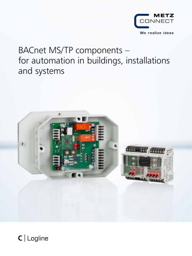 C|Logline - BACnet MS/TP components – for automation in buildings, installations and systems