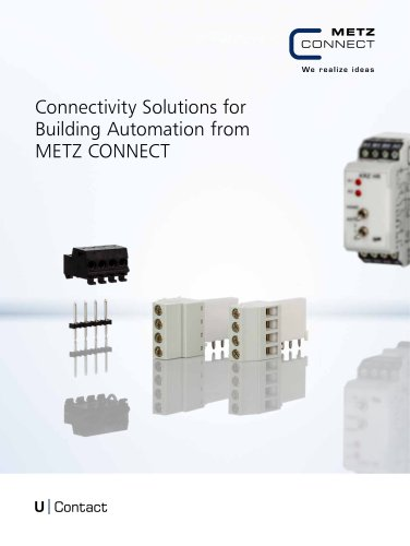 U|Contact - Connectivity Solutions for Building Automation from METZ CONNECT