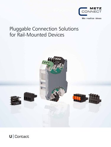U|Contact - Pluggable Connection Solutions for Rail-Mounted Devices
