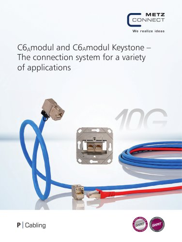 P|Cabling - C6Amodul and C6Amodul Keystone – The connection system for a variety of applications