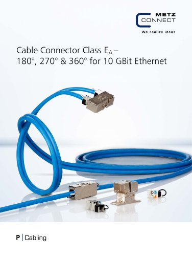 P|Cabling - Cable Connector Class EA – 180°, 270° & 360° for 10 GBit Ethernet