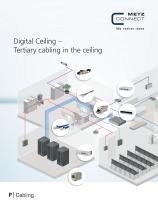 P Cabling - Digital Ceiling - Tertiary cabling in the ceiling