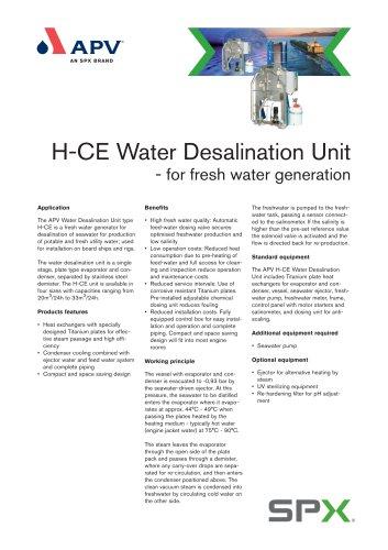 Water Desalination Unit