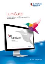 LumiSuite software for 2D image acquisition and evaluation