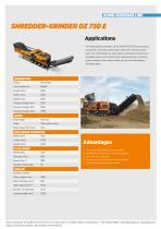 SHREDDER-GRINDER DZ 750 E