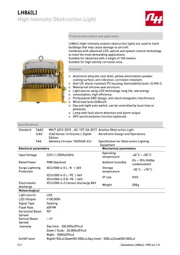 LH86(L) High Intensity Obstruction Light