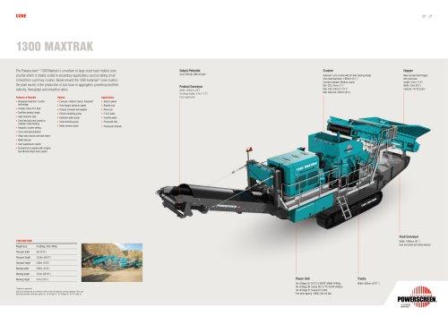 Powerscreen 1300 Maxtrak Crusher