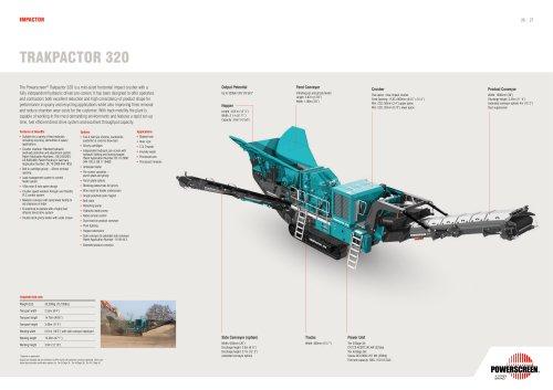 Powerscreen Trackpactor 320 Crusher Brochure