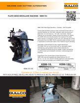 KBM-18® Heavy Duty Underside Beveling Machines
