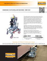 KBM-18U® Underside Plate Beveling Machine