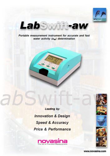 Brochure - LabSwift-aw portable water activity meter