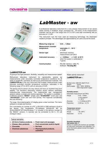 Catalogue 2017 - LabMaster_LabPartner-aw water activity meter