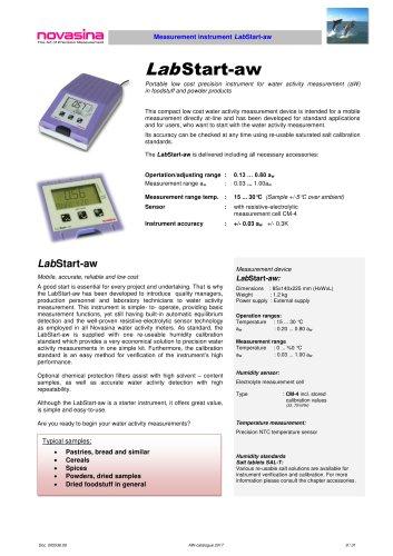 Catalogue 2017 - LabStart-aw water activity meter