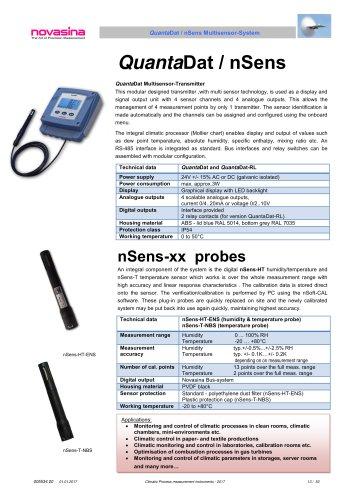 Catalogue 2017 - QuantaDat/nSens multi sensor transmitter system