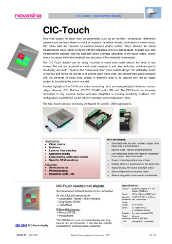 Catalogue 2017 - Touchscreen Display - CIC-Touch