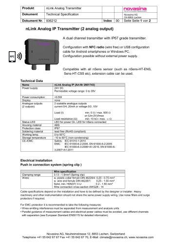 nLink Analog IP Transmitter (2 analog output)