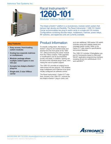 1260-101, Modular VXIbus Switch Carrier