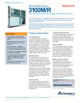 3100M, VXI Single/Dual Channel Arbitrary Waveform Generator