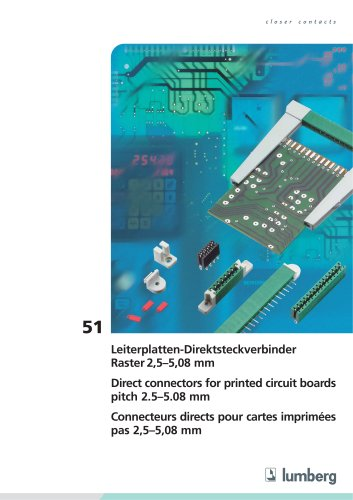 51 Direct connectors for printed circuit boards