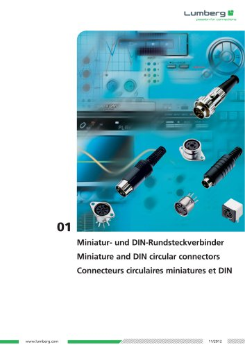 Series 01, Miniature and DIN circular connectors