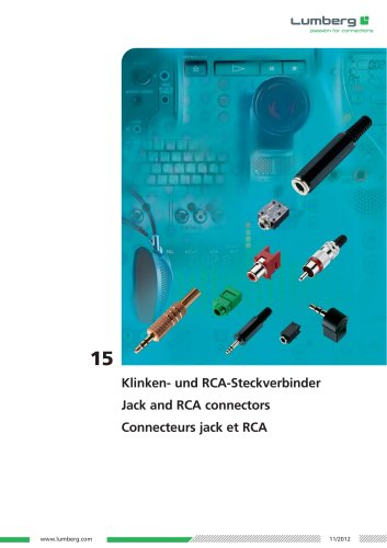 Series 15, Jack and RCA connectors
