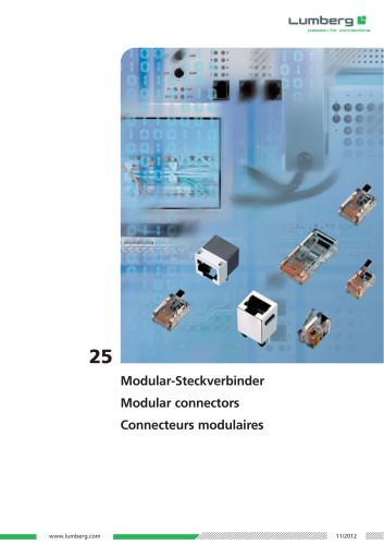 Series 25, Modular connectors