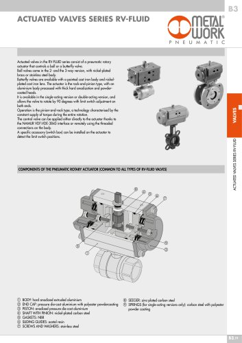 ACTUATED VALVES SERIES RV-FLUID