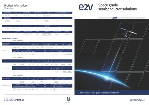 Space grade semiconductor solutions brochure