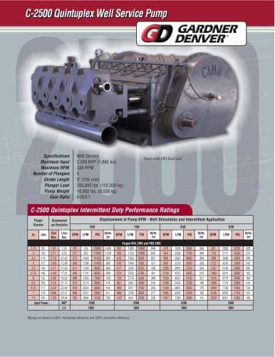 C-2500 Pump Model